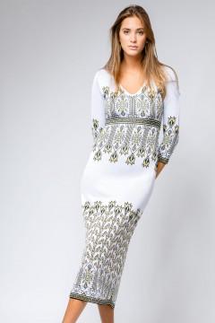 Rochie cu lalele lunga alba