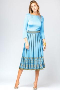 Rochie cu pliuri turquoise