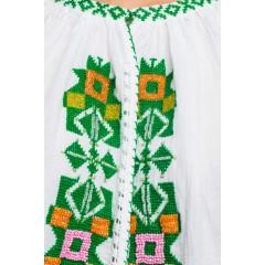 Ie tradițional românească Mărgelată - Verde