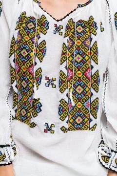 The pillar of heaven romanian blouse - Yellow