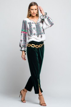 The shadow of time - Silk romanian blouse