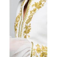 Sacou regal cu fir auriu