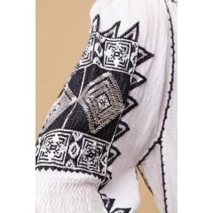 Ie românească romb - Negru cu argintiu