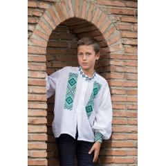 Romanian blouse for boys - little diamonds