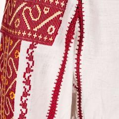 Ie din Argeș, cu fir grena și mătase aurie de la www.florideie.ro