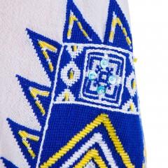 Ie românească Romb - Albastru cu galben de la www.florideie.ro
