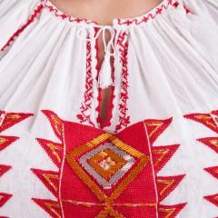 Ie românească Romb - Roșu cu portocaliu de la www.florideie.ro