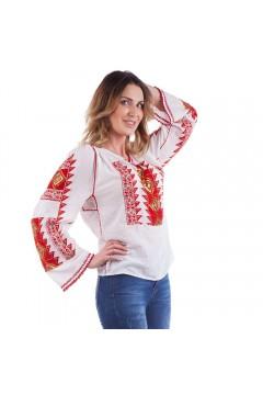 Ie românească Romb - Roșu cu portocaliu