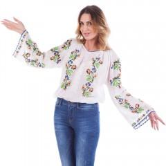 Ie pasăre - Model oltenesc de la www.florideie.ro