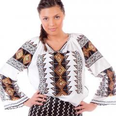 Ie românească Romb - Negru de la www.florideie.ro