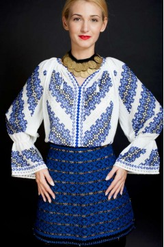 Ie românească Gorjenească - Albastru