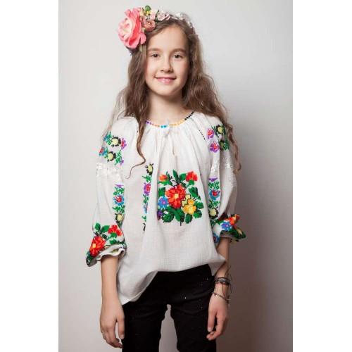 Ie românească fetiță - Trandafir