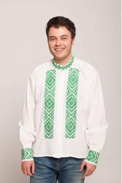 Romanian Blouse with popular motifs - green