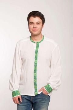 Beads romanian blouse - green