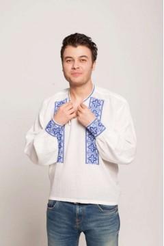 Romanian blouse clover - blue