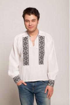 Romanian blouse clover - black
