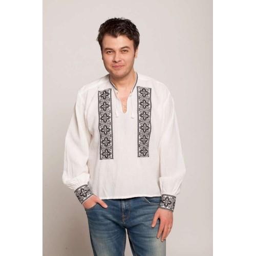Cămașă românească trifoi - negru